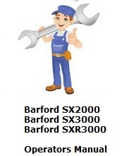 Barford SX2000-SXR3000 Operators Manual